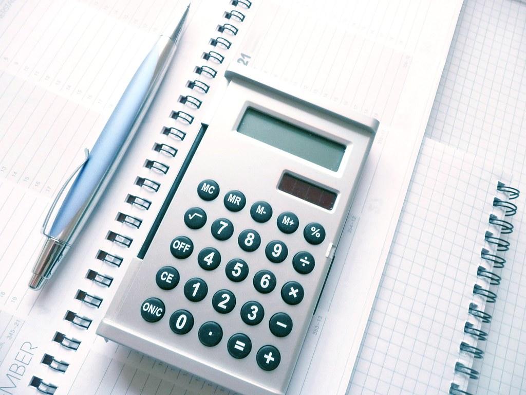 Calculator, Pen and Calendar