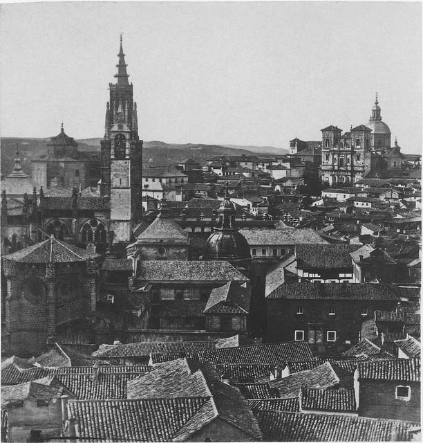 Vista desde el Alcázar de Toledo hacia 1857. Fotografía de Eugène Sevaistre editada por Gaudin