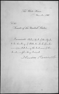 Message of President Theodore Roosevelt nominating Elihu Root to be Secretary of State, 12/06/1905