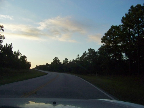 road sunset twilight florida dusk tarponsprings