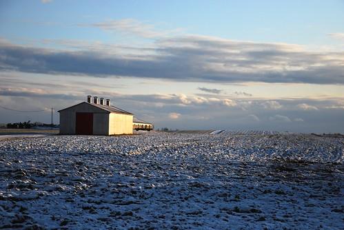 winter sunset snow canada farm hiver country champs fields neige campagne coucherdesoleil stesprit québec lanaudière
