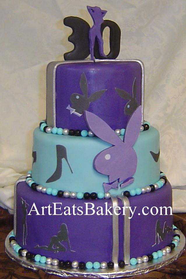 Miraculous Purple Blue Silver And Black Fondant Unique Playboy Bunn Flickr Funny Birthday Cards Online Ioscodamsfinfo