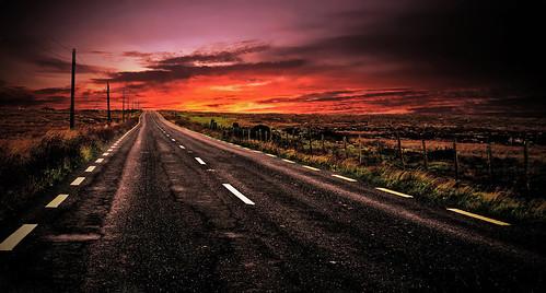 world road trip travel ireland sunset panorama nature beautiful look landscape landscapes nikon europa europe strada tramonto earth sunsets natura explore connemara vista tramonti viaggi hdr irlanda panorami d90 djjonatan