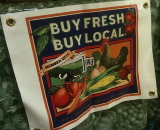 """Buy fresh, buy local"" campaign sign 