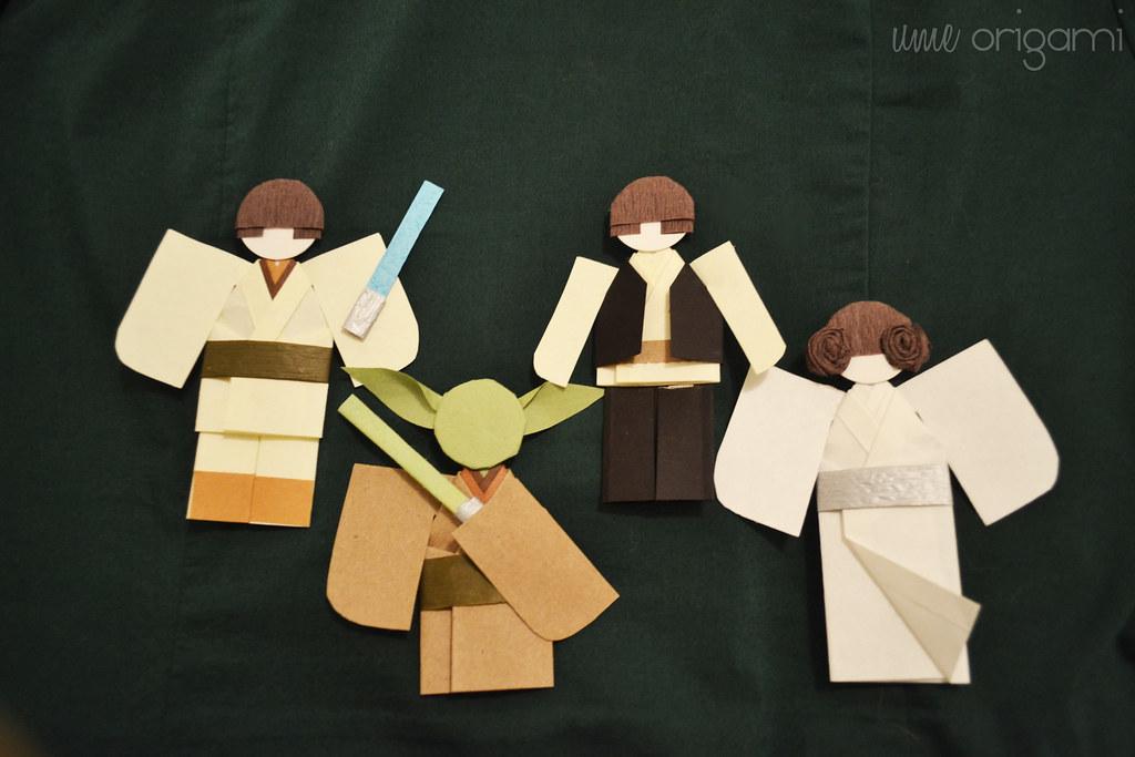How to fold Origami Princess Leia (Alexander) - YouTube | 683x1024