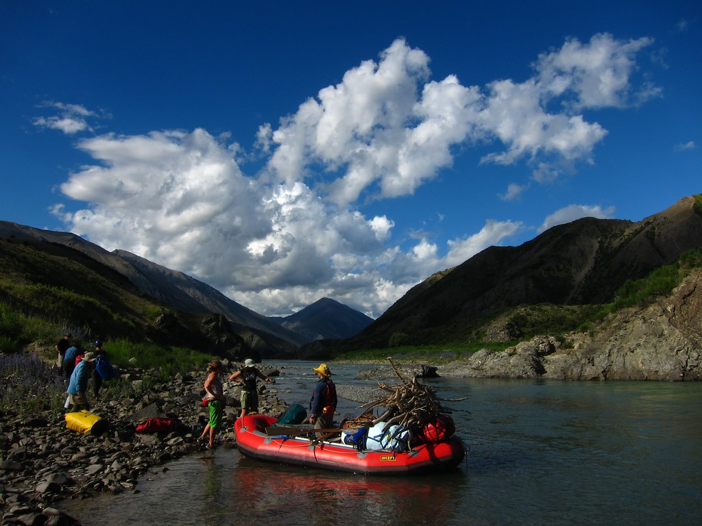 Rafting the Clarence River. South Island. New Zealand.