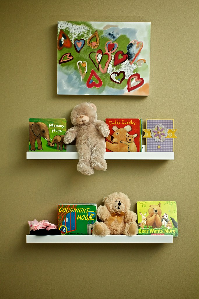 Behind The Door In The Nursery These Are Ribba Shelves