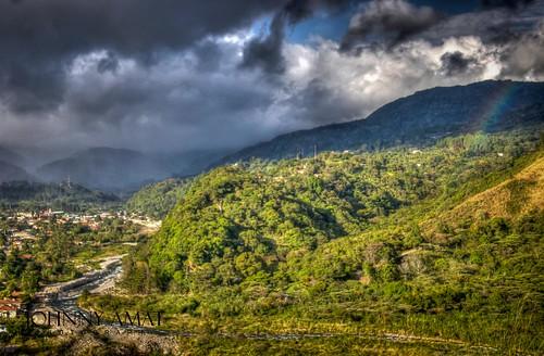 mountain mountains rio arcoiris river rainbow pueblo valle valley boquete panama montaña montañas chiriqui