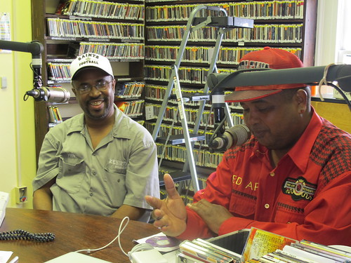 Phil Frazier and Action Jackson talking about Rebirth Brass Band Grammy nomination. photo by Briana Prevost