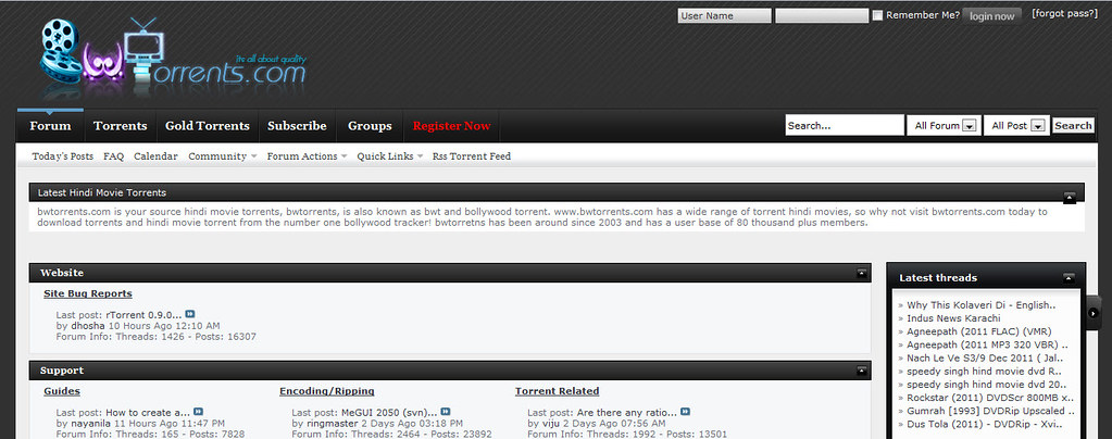 bollywood movie torrent websites