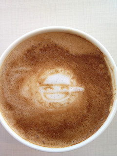 Today's latte, The Laughing Man in GHOST IN THE SHELL. | by yukop
