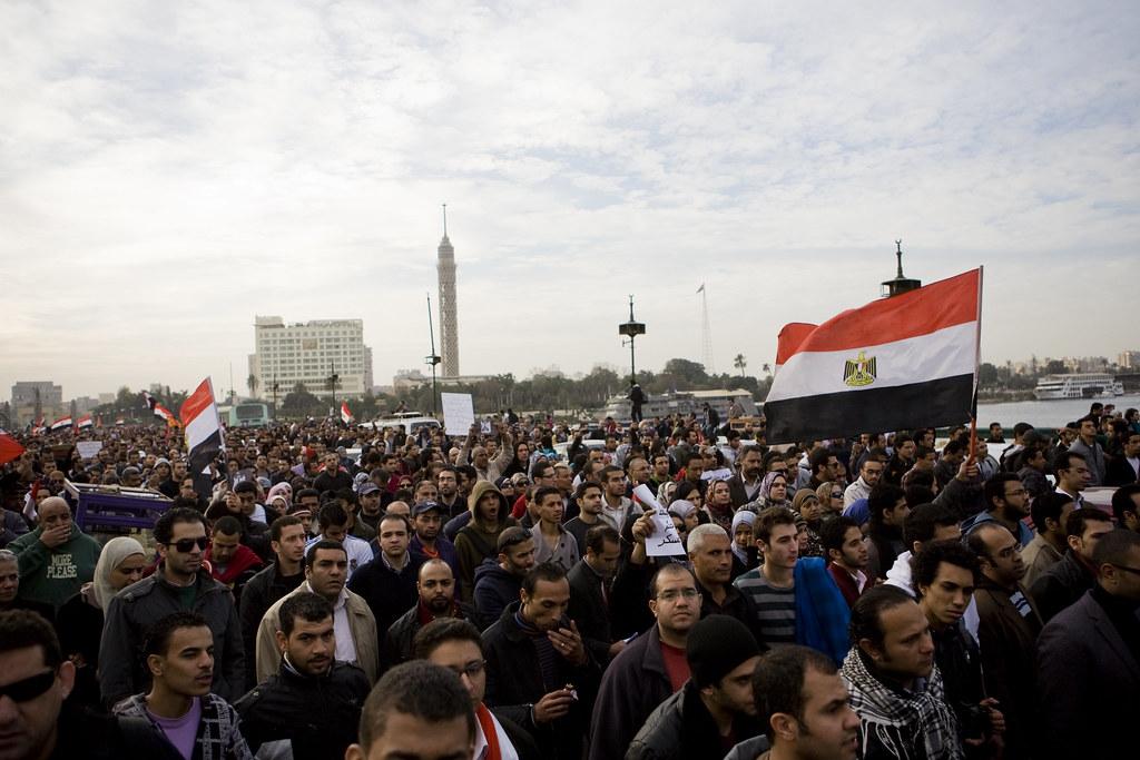 Marching into Tahrir مسيرة الجيزة تدخل التحرير
