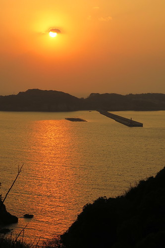 sunset japan saga 夕日 karatsu 佐賀 呼子 唐津 yobuko 風の見える丘公園 kabjima