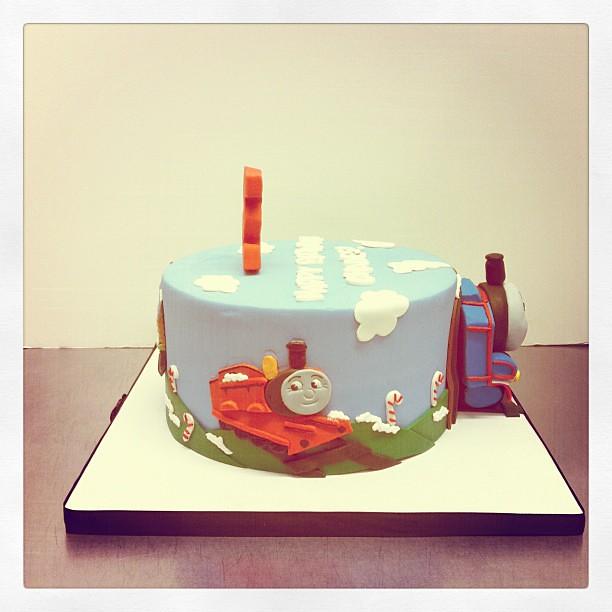 Super James Thomas The Train Birthday Cake Polkadots Olga Flickr Funny Birthday Cards Online Alyptdamsfinfo