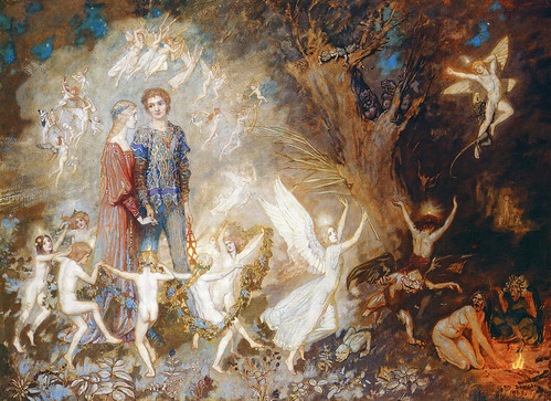 "John Duncan (Scottish, 1866-1945), ""Yorinda and Yoringel in the Witch's Wood""   by sofi01"