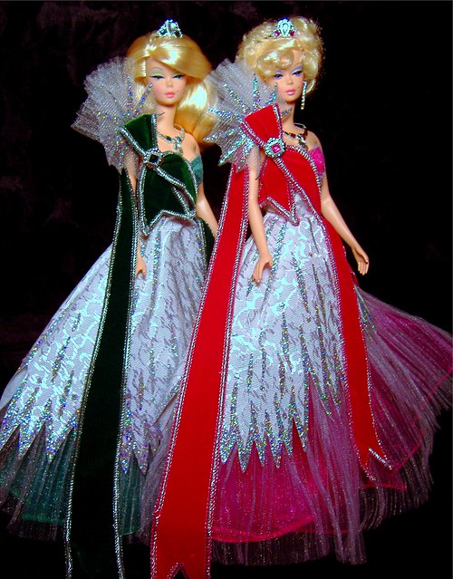 Priscilla & Lisette in Mackie Holiday gowns #1