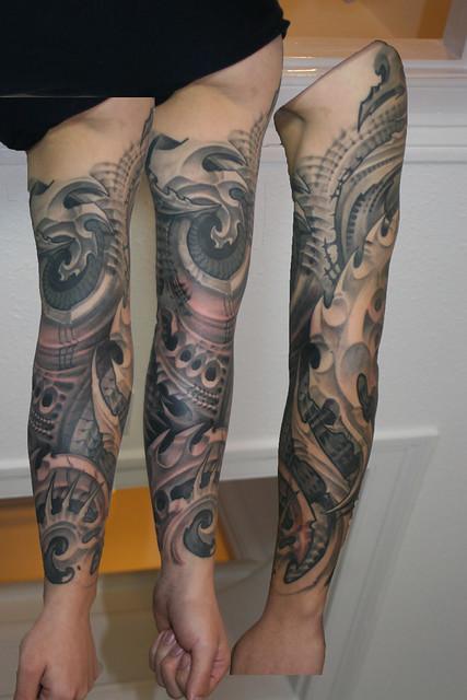 Biomechanic tattoo sleeve