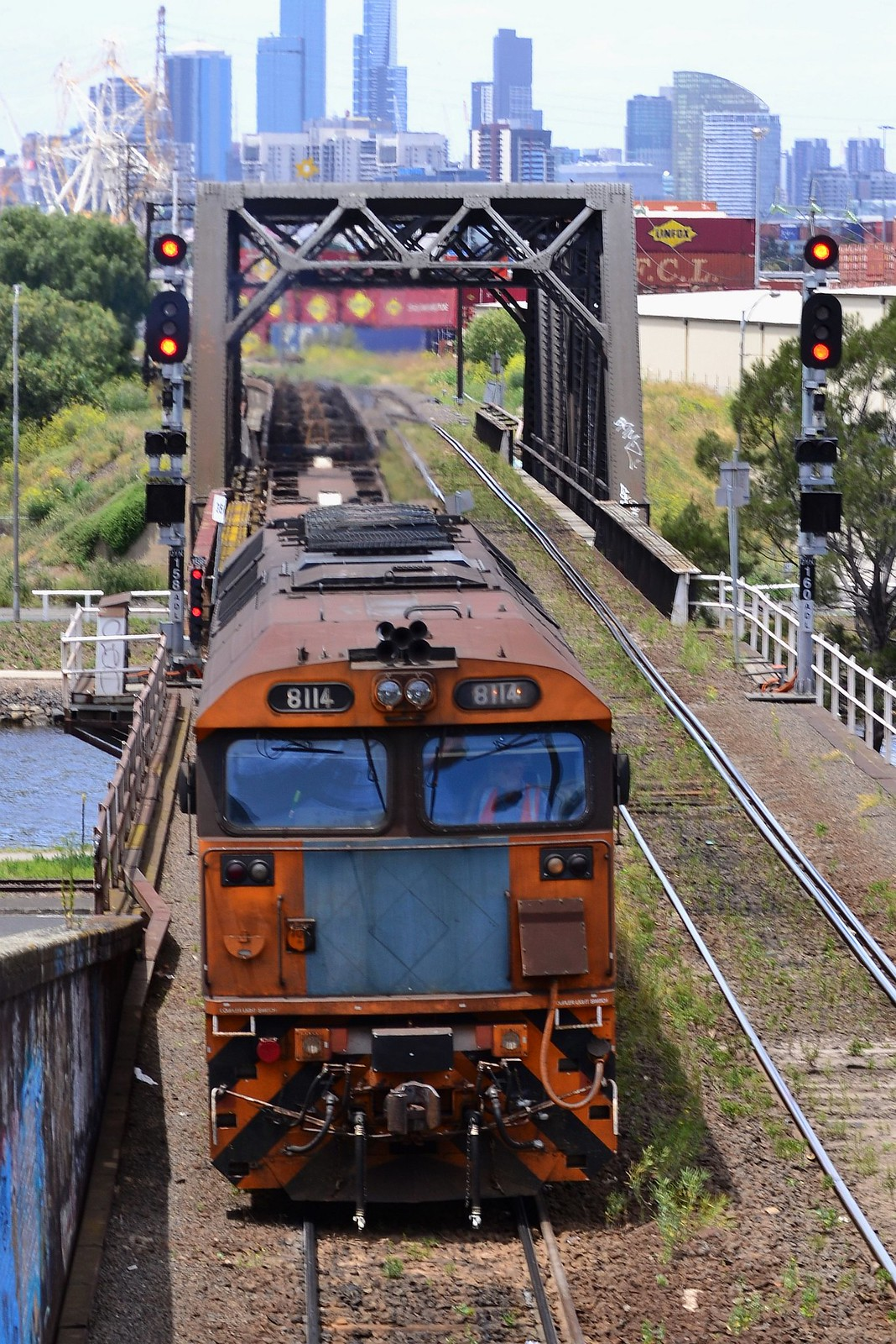 Australian Locomotives - Pacific National - 8114 by Shawn Stutsel