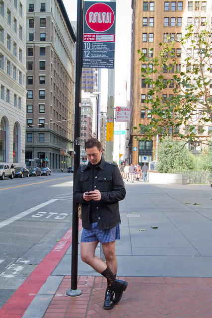 No Pants Subway Ride San Francisco 2012: waiting