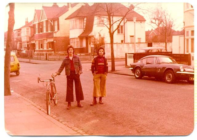 Boot Boys and bike 1976