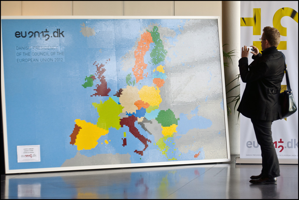 A European Union map composed entirely of Lego bricks | Flickr
