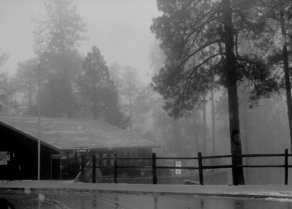 Snowstorm outside of Summerhaven, Arizona