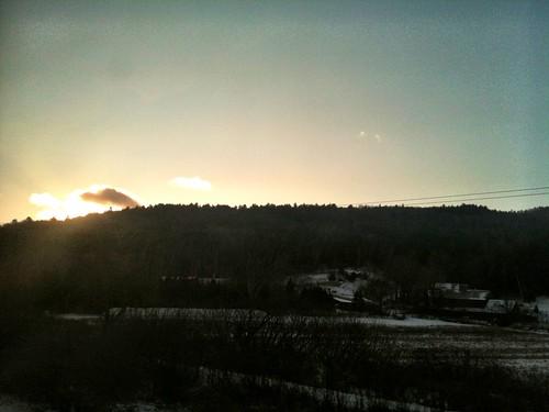 trees sunrise vermont hill westrutland