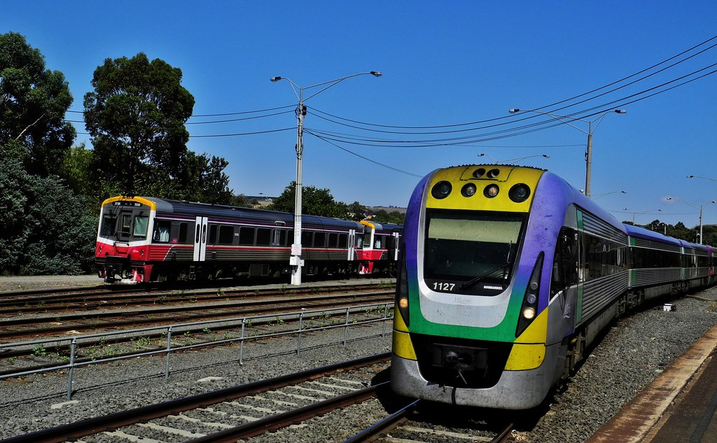 The 1023am Wendouree to Southern Cross Vlocity at Bacchus Marsh Vic by Rodney S300