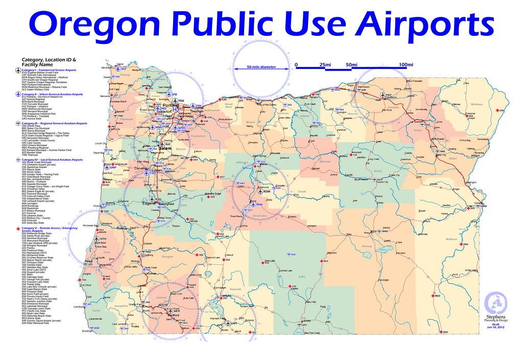 Airports In Oregon Map Oregon Public Use Airports   Oregon Public Use Airports with…   Flickr