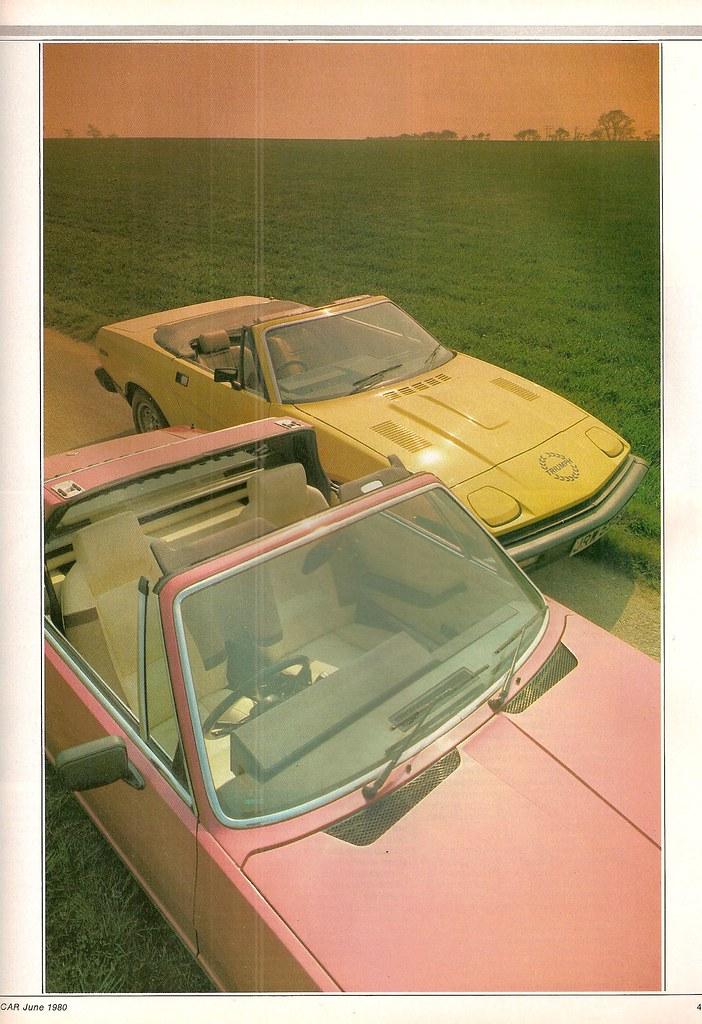 Fiat X19 Triumph Tr7 Convertible Twin Road Test 1980 Flickr