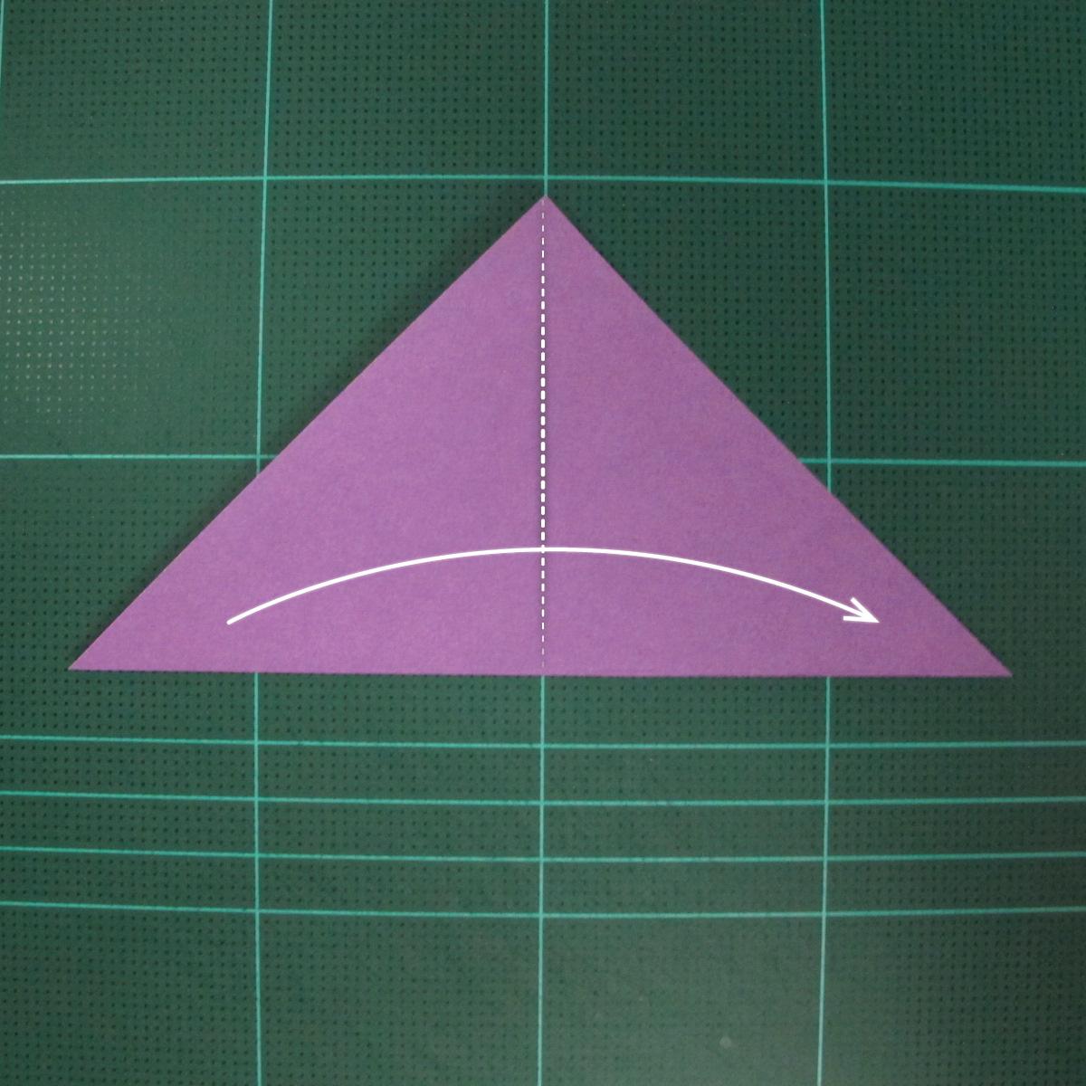 วิธีพับกระดาษเป็นนกพิราบแบบง่าย (Easy Origami Pigeon) 002