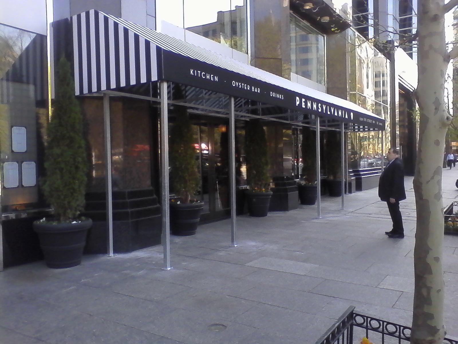 Commercial Sidewalk Cafe Awning Washington DC