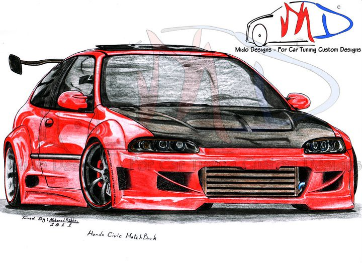 Honda Civic SiR Hatchback | Mido Designs - For Car Tuning Cu