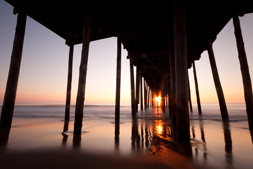 ocean longexposure morning sun beach sunrise dawn pier sand maryland oceancity watermarylandoceancityvacation