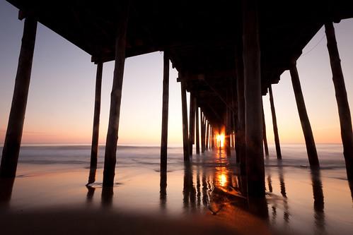 ocean longexposure morning sun beach sunrise dawn pier sand maryland oceancity watermarylandoceancityvacation