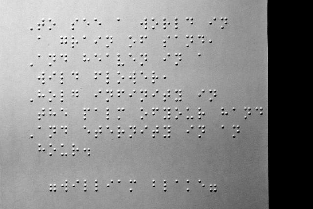 Blind poetry