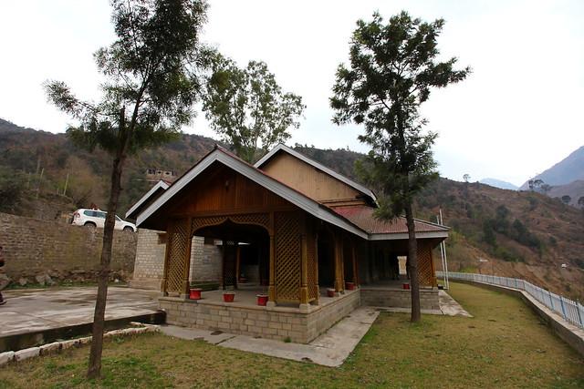 Main entrance to Dak bungalow at Barsala village, an AJK tourism guest house, near Kohala bridge, AJK, Kashmir