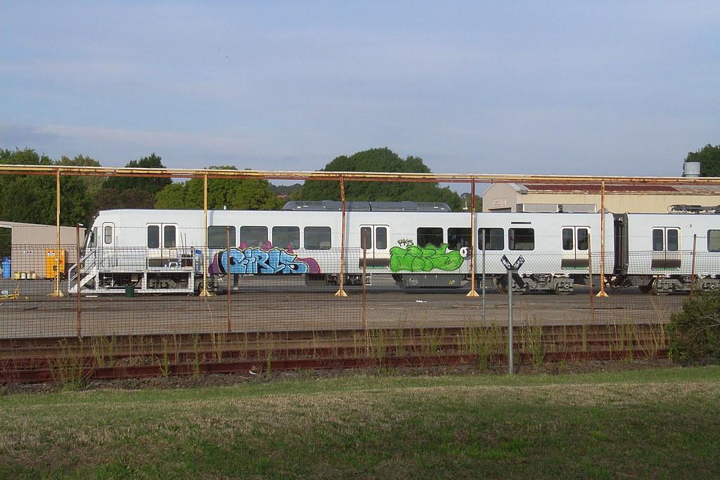 An Xtrap set at Ballarat with graffiti down the side of it by bukk05