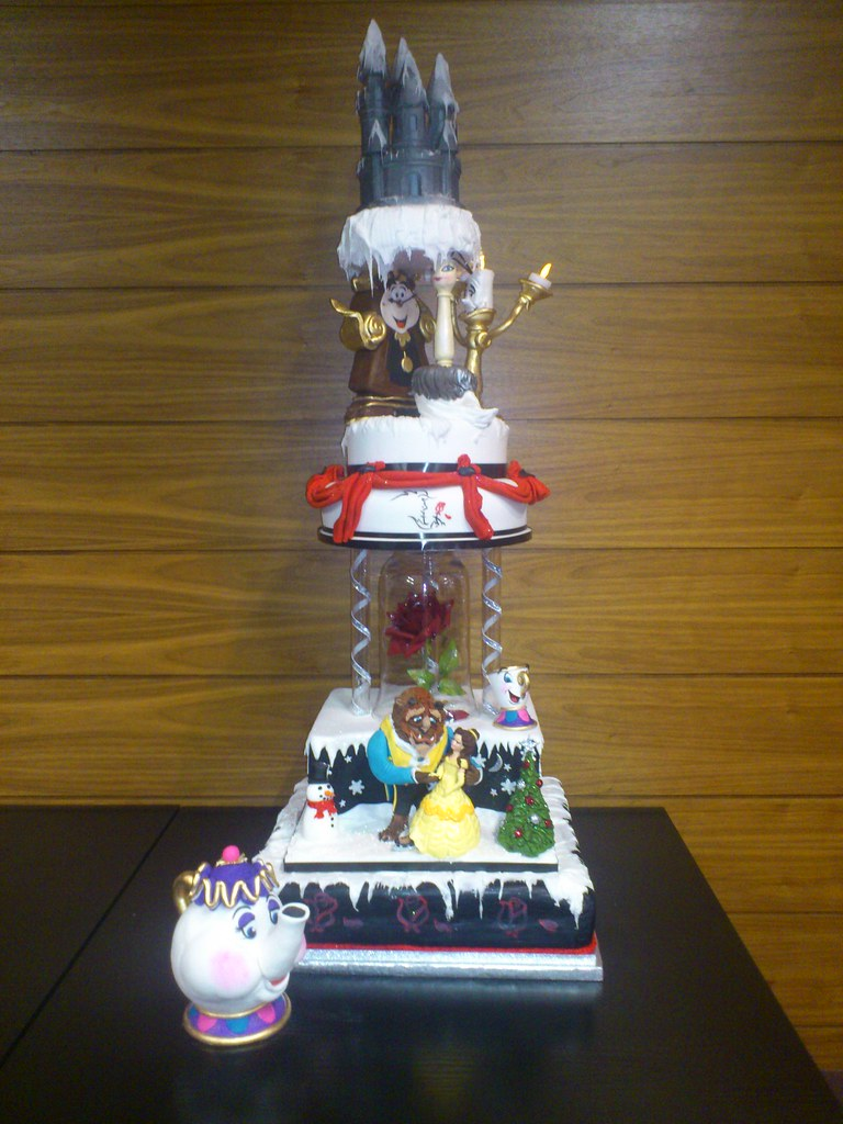 Beauty And The Beast Themed Wedding.Beauty The Beast Themed Wedding Cake Beauty The Beast Flickr