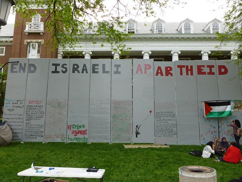 Students for Justice in Palestine put up a wall against Israeli Apartheid on the UIUC campus quad | by benchilada