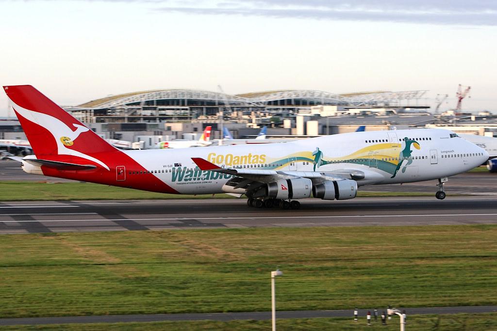 Qantas Boeing 747 400 Vh Ojo Go Wallabies London H Flickr