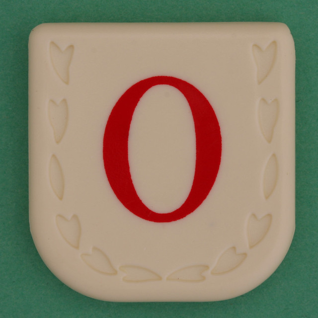 Line Word red letter O