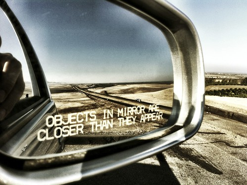 Objects in mirror are closer than they appear | by vincewilcox
