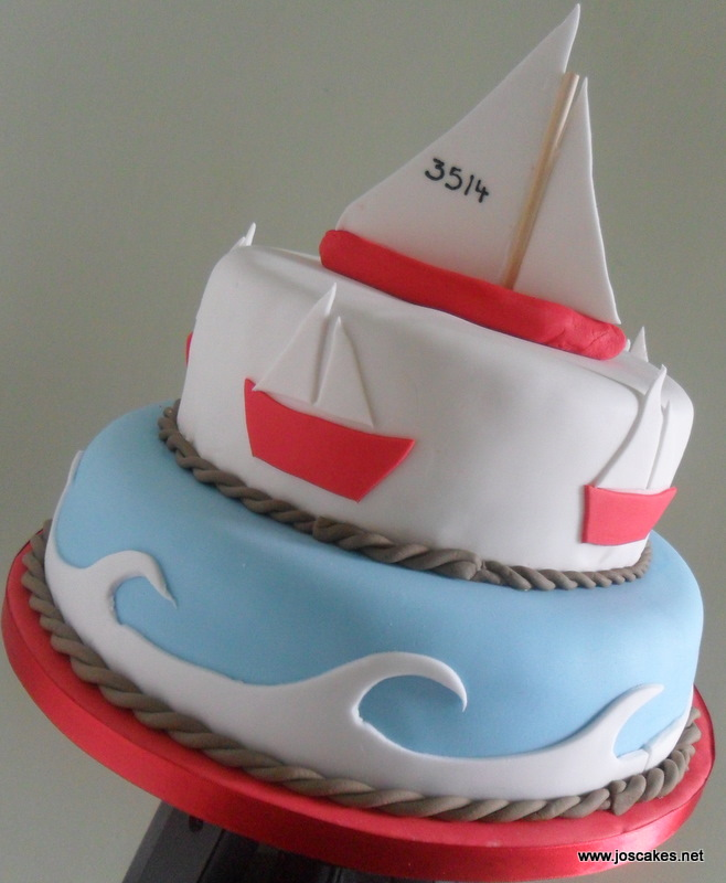 Marvelous Sailing Boat Nautical Birthday Cake Nautical But Nice Thi Flickr Personalised Birthday Cards Veneteletsinfo