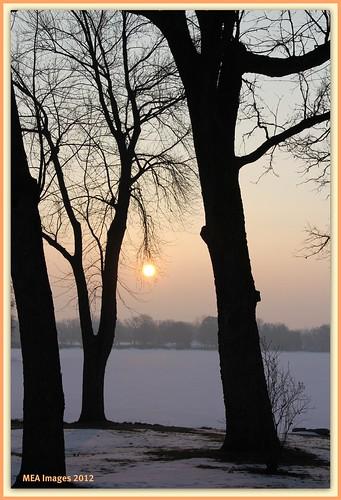 trees sun lake snow ice nature wisconsin sunrise canon frozen lakeside canoneos60d mygearandme mygearandmepremium mygearandmebronze mygearandmesilver merleearbeen meaimages