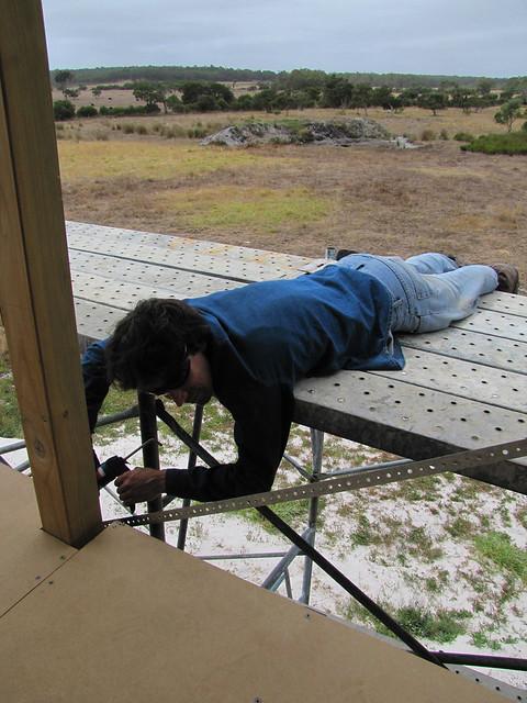 Brett Sealing Gaps - Strawbale House Build in Redmond Western Australia