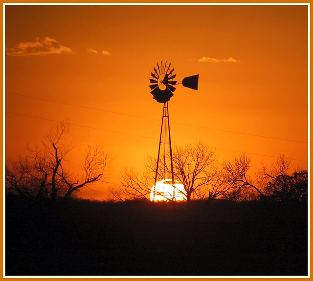 Sunset Windmill Wednesday HWW