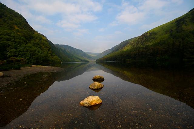 3 rocks and a lake