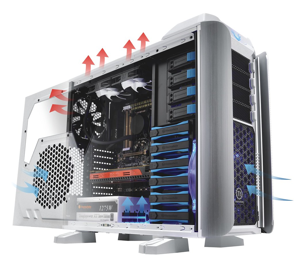 Thermaltake armor revo full tower chassis snow edition [vo200m6w2n.