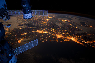 U.S. Eastern Seaboard at Night from the ISS | by NASA Earth Observatory